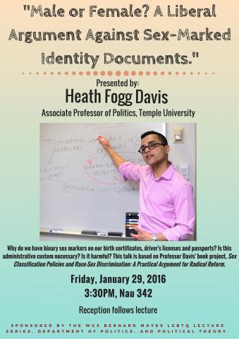 Heath Fogg Davis, University of Virginia lecture, Jan 2016